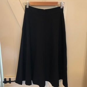 BANANA REPUBLIC Black High Waist A-line Skirt